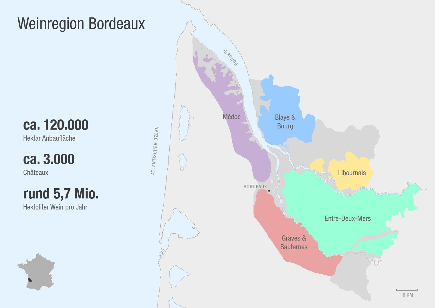 bordeaux karte Weinregion Bordeaux   Rebsorten, Klassifikationen & Co.   Teil 1