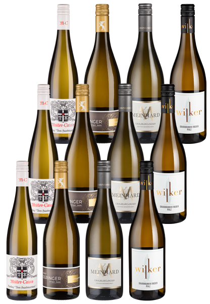 12er-Paket Deutsche Weißwein-Favoriten - Weinpakete