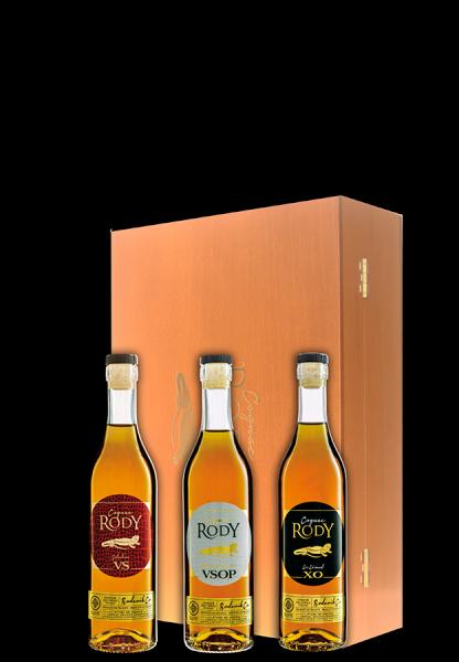 3er-Schatulle Rodys 1er Cru de Cognac Trilogie - Cognac Rody - Spirituosen