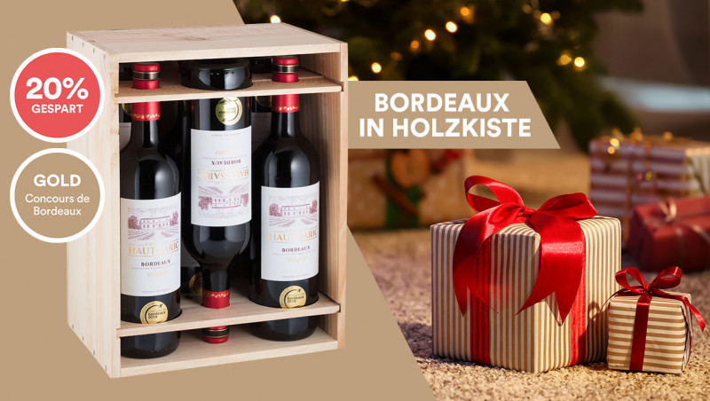 Bordeaux Rouge in Holzkiste