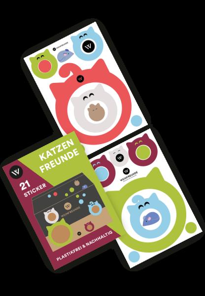 Sticker-Set Katzenfreunde